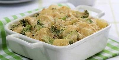 1. Zapiekanka z brokułów i dyni <br><br> Składniki: <br><br> - 100 g...