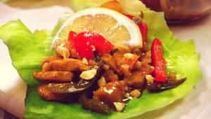 Orientalny kurczak z warzywami